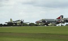 Phantom FG1 and Gannet AEW3 (Nigel Musgrove-2.5 million views-thank you!) Tags: 1977 rnas culdrose jubilee air show england douglas phantom fg1s 001 010 892 squadron fairey gannet aew3 royal navy hms ark mcdonnell f4 f4k fg1