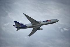 Douglas Rising (Angelo Bufalino - Avstock.net) Tags: 2 nikon memphis aircraft software nik express boeing nikkor douglas fedex federal 28300mm 5star md11 mcdonnell kmem f3556 d700 viveza