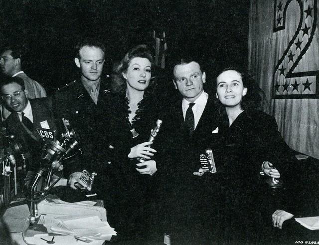 Van Heflin, Greer Garson, James Cagney and Teresa Wright
