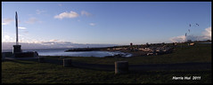 Panoramic Garry Point Park S0465e (Harris Hui (in search of light)) Tags: ocean park sea sky canada water vancouver clouds composition bc background scene right panoramic richmond kites stitching fujifilm left pointshoot steveston foreground garrypoint redsculpture digitalcompact fishermansmemorial s1600 vancouverbiennale fujis1600 tellastory panoramiccomposition harrishui fromthelefttotheright vancouverdslrshooter panoramicgarrypoint threeimagesmadeintoone makeaflow letthevisionwanderaround lookatascene gotoapark windewaves findyourviewpoint