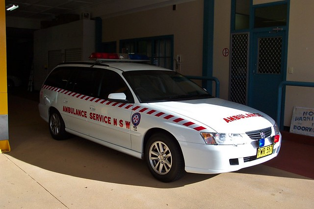 2003 Holden VY Series II Commodore Acclaim station wagon. Operated by the Ambulance Service of New South Wales. Fleet number N15.