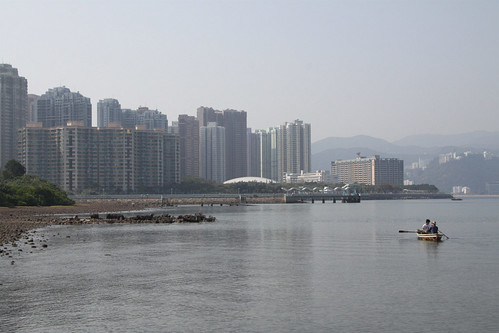 Looking back to the New Town of Ma On Shan: everything built on reclaimed land