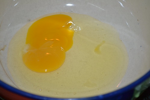 egg yolk for Molten Chocolate Lava Cake.