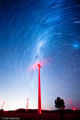 _LSC5588 (Rob Featonby) Tags: longexposure windmill night star windturbine windfarm startrails singleexposure waubra