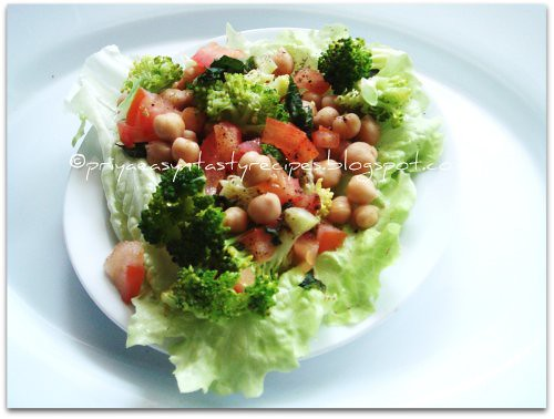 Chickpeas  & Broccoli Salad