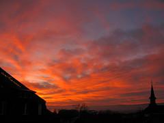 shepherd's delight (overthemoon) Tags: sunset red sky clouds schweiz switzerland suisse silhouettes lausanne svizzera coucherdesoleil vaud romandie montriond imagepoésie