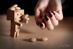 Its all yours babe danbo (SaRa Meow  .. / @sosoMeow) Tags: cute cookie sweet chocolate mini nails babyface danbo sarameow