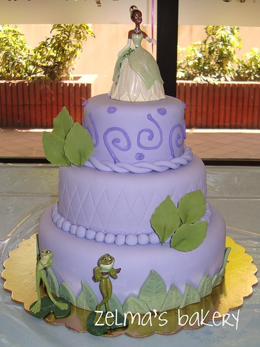 The Princess and the Frog Cake - 3 tiers
