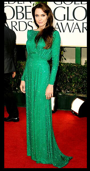 gg atelier versace long-sleeved emerald gown