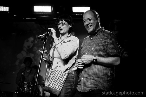Nommi & Mike of Slumberland Records, March 28, 2010 © 2010 Michael Kang