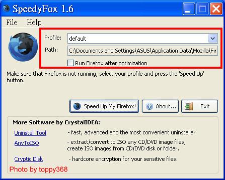 Use SpeedyFox