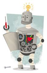 Domo arigato, Mr. Roboto (medialunadegrasa) Tags: illustration robot error textures maintenance page illustrator 404