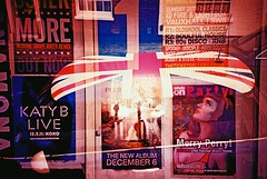 MORE LIVE PARTY triple (slimmer_jimmer) Tags: roof simon poster xpro crossprocessed marcus tunnel mini crossprocessing unionjack tripleexposure a41 fujivelvia100f