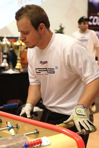 joueur gant concentration