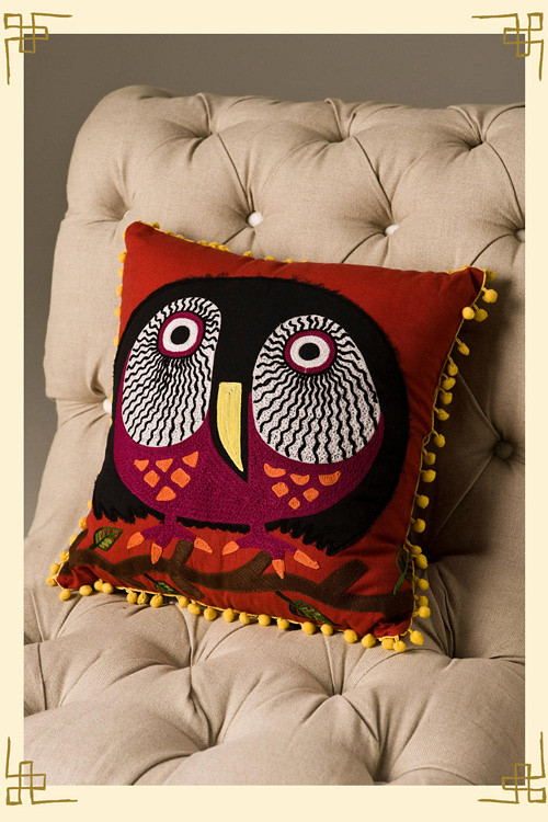 Gorgeous Watchful Eyes Owl Pillows By Karma Living . Available Here And  Here.