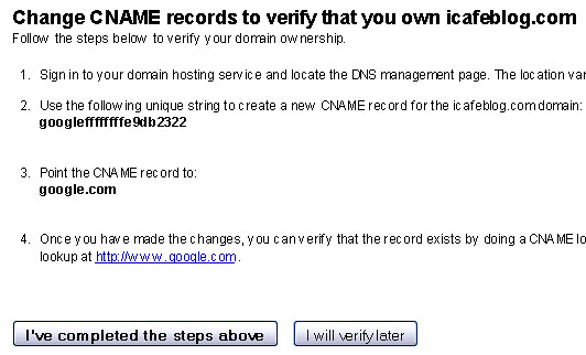 Change CNAME record instructions for Google Apps - blankpixels.com