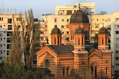 Domnita Balasa Church in bucharest (gruntpig) Tags: old travel light holiday building church architecture ancient europe glow tour basilica romania dome domes eastern bucharest touring rumania monastry rumanians romaians