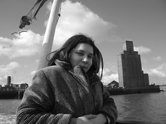 Ferry...'cross the Mersey... (Thirteensteps13) Tags: bw white black monochrome ferry liverpool seagull birkenhead mersey