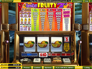 Lucky Fruity 7s slot game online review