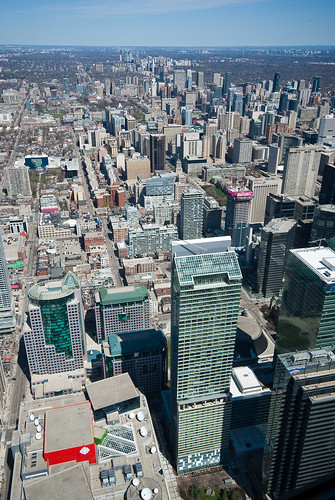 Yonge St from above