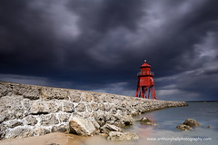 Light on Little Haven (Azzmataz) Tags: longexposure lighthouse haven clouds pier long exposure little south tyne groyne shields anthonyhallphotography wwwanthonyhallphotographycom