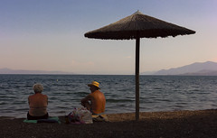 Older Couple (Iva T.) Tags: neaanchialos greece thessaly magnesia volos municipality anchialos beach august summer sea seascape seniors olderpeople