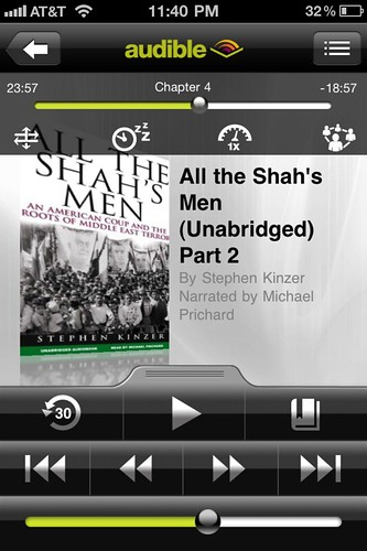 Audible for iPhone: All The Shah's Men by Stephen Kinzer