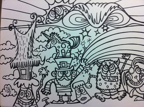 Unicorn leprechaun yeti coloring page - a photo on Flickriver