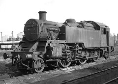 BR Class 3 2-6-2T no.82017. Nine Elms shed. 3 October 1964 (ricsrailpics) Tags: uk steam 1964 class3 262t exbr nineelmsshed