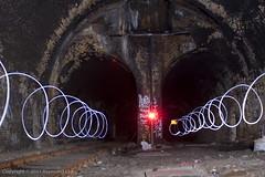 Double spiral (Mondino1980) Tags: blue light shadow red 3 vortex man flower london wool wheel train fire jump wire rust track ghost orb 8 tunnel led raymond lay armed connaught mondino murphyz