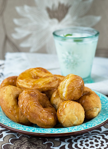 Yogurt Fritters & Yogurt Drink