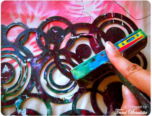 monoprints & stencil prints with maya road