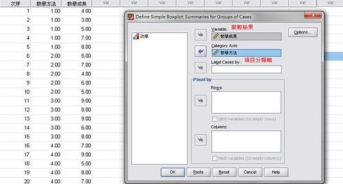 03-選定項目分類和變數結果