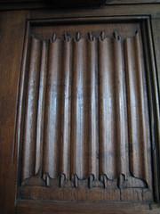Linenfold panel (Katy Wrathall) Tags: shropshire ludlow panelling castlehouse linenfold