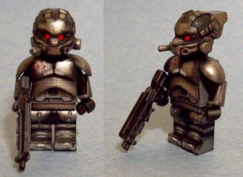 Custom minifig Helghast Elite Shock Trooper - KZ2
