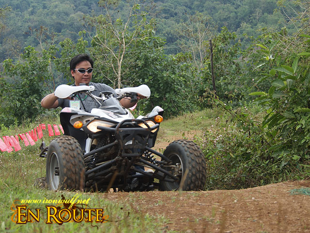 The exctiting ATV ride at PUGAD