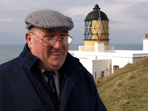 Third generation keeper, Hector Lamont, at the Mull of Kintyre lighthouse.