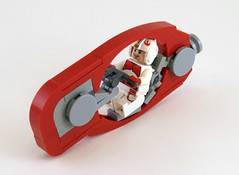The Scarlet Raptor (Titolian) Tags: bike speed scarlet lego space raptor future ruby speeder wyvern