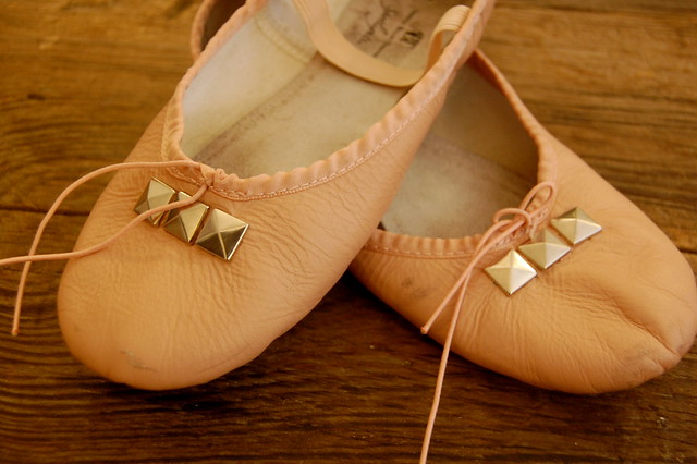 studded ballet shoes