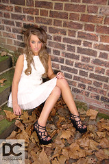 Aimee Louise Evans by Darren Cheshire (Darren Cheshire Photography) Tags: pink blue autumn winter woman white sexy brick girl leaves darren fashion liverpool docks vintage hair golden leaf evans high dock glamour long rooms photographer dress cheshire room albert bricks samsung style louise aimee figure heels wag glam merry dslr widow mersey merseyside scouser gx20 scouse
