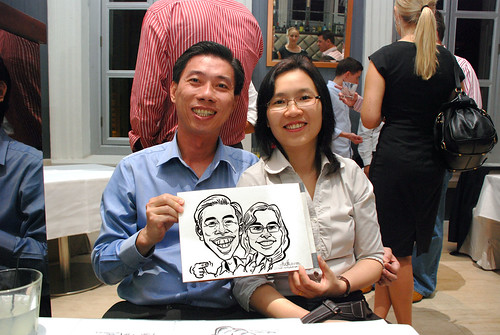 Caricature live sketching for Norden Shipping - 4