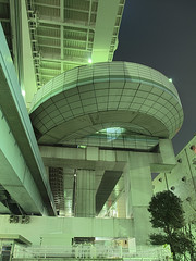 Shibaura Parking Area (YoshinoHDR) Tags: night tokyo parking 東京 expressway 夜景 hdr minato 高速道路 港区 芝浦 パーキングエリア hdratnight