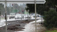 Princes Highway, Pakenham. (smjbk) Tags: flood floods pakenham vicfloods vicrains vicflood vicrain pakyfloods