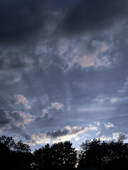 Silver Lining (mylifeaslynn) Tags: sunset sky sun nature beautiful clouds rays sunray
