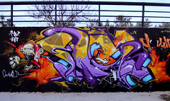 INCA_____DouBLE_Xplosive (SRCARAMELOS) Tags: city urban art inca toys one graffiti mural colours fat rage colores double spray urbanart alicante satan hunter graff eds th 2010 envoy taser 2011 of 2k11