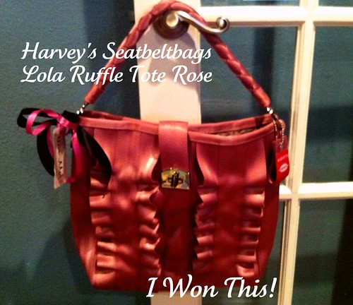 Harvey's Lola Ruffle Tote Rose