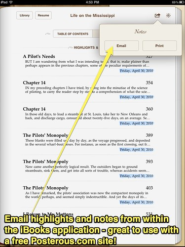 Email Notes from iBooks