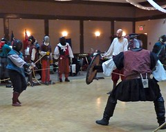 2011011523 (cj berry) Tags: canada costume sca indoor battle medieval tournament event alberta gathering sword duel fighting reenactment rapier twelfthnight garb airdrie 12thnight societyforcreativeanachronism baronyofmontengarde