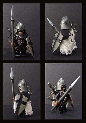Custom minifig crusade veteran, teutonic order infantry custom minifig