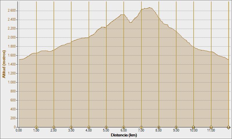 secus, bisaurin 08-02-2011, Altitud -  Distancia
